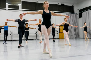 Photo of students doing ballet